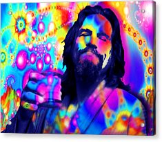 The Dude The Big Lebowski Jeff Bridges Acrylic Print by Tony Rubino