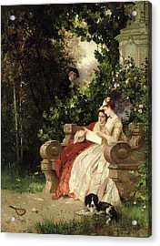 The Eavesdropper Acrylic Print by Carl Heinrich Hoff