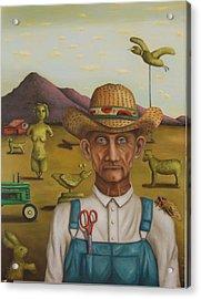 The Eccentric Farmer Acrylic Print by Leah Saulnier The Painting Maniac