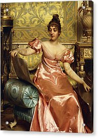 The Elegant Connoisseur Acrylic Print by Joseph Frederick Charles Soulacroix