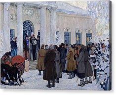 The Emancipation Of Russian Serfs Acrylic Print by Boris Mihajlovic Kustodiev
