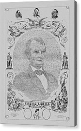 The Emancipation Proclamation Acrylic Print by War Is Hell Store