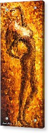 The End Of Dancing - Palette Knife Oil Painting On Canvas By Leonid Afremov Acrylic Print by Leonid Afremov