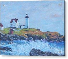 The End Of Summer- Cape Neddick Maine Acrylic Print by Alicia Drakiotes