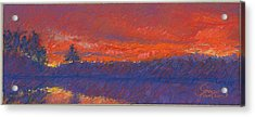 The End Of Sunset Acrylic Print by Grace Goodson