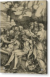 The Entombment Of Christ Acrylic Print by Andrea Andreani