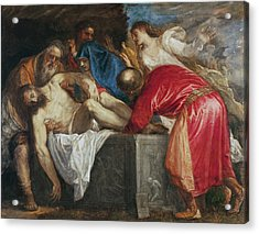 The Entombment Of Christ Acrylic Print by Titian