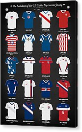 The Evolution Of The Us World Cup Soccer Jersey Acrylic Print by Taylan Apukovska