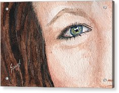 The Eyes Have It-jenifer Acrylic Print by Sam Sidders