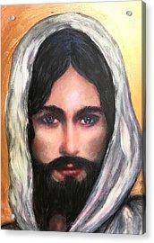The Eyes Of Jesus Acrylic Print by Cena Rasmussen