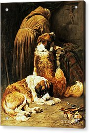 The Faith Of Saint Bernard Acrylic Print by John Emms