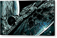 the Falcon Acrylic Print by George Pedro