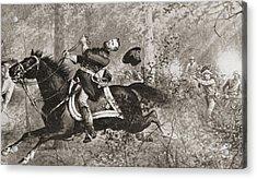 The Fall Of General James Birdseye Mcpherson Acrylic Print by American School