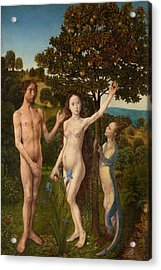 The Fall Of Man And The Lamentation Acrylic Print by Hugo van der Goes