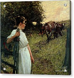 The Farmer's Daughter Acrylic Print by Henry Herbert La Thangue
