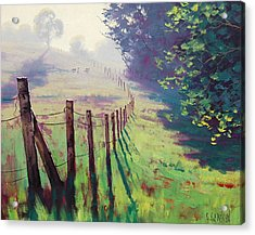 The Fence Line Acrylic Print by Graham Gercken