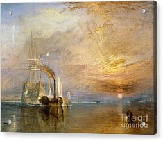 The Fighting Temeraire Tugged To Her Last Berth To Be Broken Up Acrylic Print by Joseph Mallord William Turner