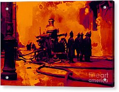 The Fire Fighters - 20130207 Acrylic Print by Wingsdomain Art and Photography