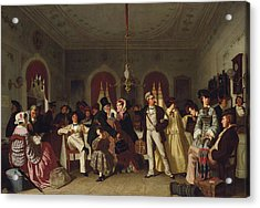 The First And Second Class Waiting Room Acrylic Print by Carl Henrik d'Unker