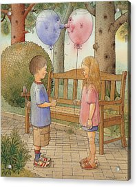 The First Date Acrylic Print by Kestutis Kasparavicius