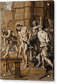 The Flagellation Acrylic Print by Abraham Jansz van Diepenbeeck