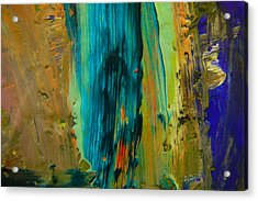 The Flair Of The Flame Abstract Acrylic Print by Jeff Swan
