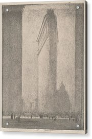 The Flat Iron New York Acrylic Print by Joseph Pennell