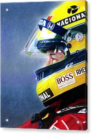 The Focus Of Ayrton Acrylic Print by Lyle Brown