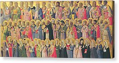 The Forerunners Of Christ With Saints And Martyrs Acrylic Print by Fra Angelico