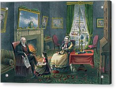 The Four Seasons Of Life  Old Age Acrylic Print by Currier and Ives