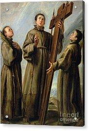 The Franciscan Martyrs In Japan Acrylic Print by Don Juan Carreno de Miranda