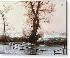 The Frozen Pool Acrylic Print by John Bernet Ladbrooke
