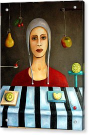 The Fruit Collector Acrylic Print by Leah Saulnier The Painting Maniac