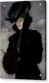 The Fur Coat Acrylic Print by Bessie MacNicol
