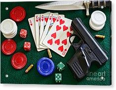 The Gambler Acrylic Print by Paul Ward