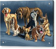 The Gang 2 Acrylic Print by Aaron Blaise