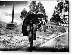 The Gap Rich And Poor Acrylic Print by Venura Herath