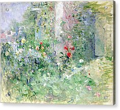 The Garden At Bougival Acrylic Print by Berthe Morisot