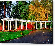 The Garden At Wapato Park Acrylic Print by Tim Coleman
