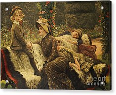 The Garden Bench Acrylic Print by Tissot