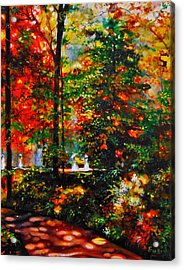 The Garden Acrylic Print by Emery Franklin
