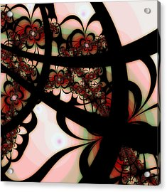 The Garden Gate Acrylic Print by Bonnie Bruno