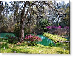 The Garden In The Abbey Acrylic Print by Susanne Van Hulst