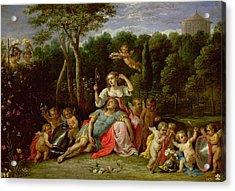 The Garden Of Armida Acrylic Print by David the younger Teniers
