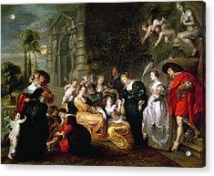 The Garden Of Love Acrylic Print by Peter Paul Rubens