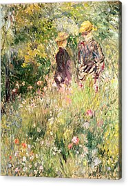 The Garden Of Roses Acrylic Print by Pierre Auguste Renoir