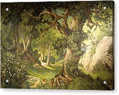 The Garden Of The Magician Klingsor, From The Parzival Cycle, Great Music Room Acrylic Print by Christian Jank