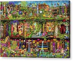 The Garden Shelf Acrylic Print by Aimee Stewart