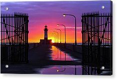 The Gates Of Dawn Acrylic Print by Mary Amerman