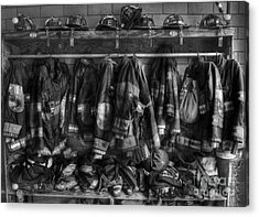 The Gear Of Heroes - Firemen - Fire Station Acrylic Print by Lee Dos Santos